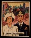 1941 Gum Inc. War Gum #100   King George VI and Queen Elizabeth Front Thumbnail