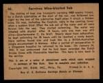 1941 Gum Inc. War Gum #40   Survives Mine Blasted Sub Back Thumbnail