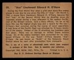 1941 Gum Inc. War Gum #55   Ace Lt. Edward H. O'Hare Back Thumbnail