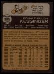 1973 Topps #285  Don Kessinger  Back Thumbnail