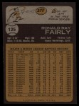 1973 Topps #125  Ron Fairly  Back Thumbnail