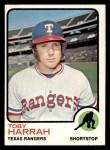 1973 Topps #216  Toby Harrah  Front Thumbnail