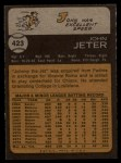 1973 Topps #423  Johnny Jeter  Back Thumbnail