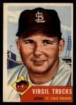 1953 Topps #96  Virgil Trucks  Front Thumbnail