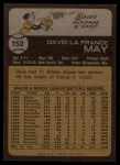 1973 Topps #152  Dave May  Back Thumbnail