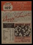 1953 Topps #169  Dizzy Trout  Back Thumbnail