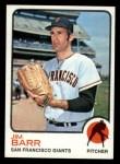 1973 Topps #387  Jim Barr  Front Thumbnail