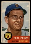 1953 Topps #113  Jerry Priddy  Front Thumbnail