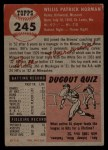 1953 Topps #245  Bill Norman  Back Thumbnail