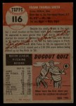 1953 Topps #116  Frank Smith  Back Thumbnail