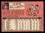 1969 Topps #154  Jim Britton  Back Thumbnail