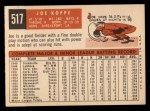 1959 Topps #517  Joe Koppe  Back Thumbnail