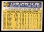 1970 Topps #496  Steve Whitaker  Back Thumbnail