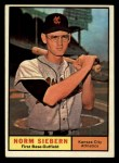 1961 Topps #267  Norm Siebern  Front Thumbnail