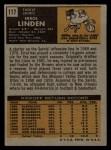 1971 Topps #117  Errol Linden  Back Thumbnail