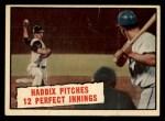 1961 Topps #410   -  Harvey Haddix Baseball Thrills Front Thumbnail