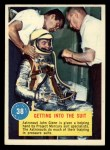 1963 Topps Astronaut Popsicle #38   Getting into the suit Front Thumbnail