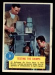 1963 Topps Astronaut Popsicle #3   Testing the Chimps Front Thumbnail