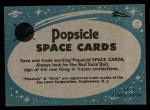 1963 Topps Astronaut Popsicle #40   Inside the test chamber Back Thumbnail