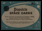 1963 Topps Astronaut Popsicle #9   Training the Astronaut Back Thumbnail
