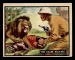 1950 Topps Bring Em Back Alive #25   The Killer Escapes Front Thumbnail
