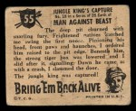 1950 Topps Bring Em Back Alive #55   Jungle King's Capture Back Thumbnail