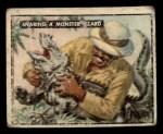 1950 Topps Bring Em Back Alive #68   Snaring Monster Lizard Front Thumbnail