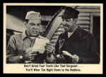1965 Fleer Gomer Pyle #33   Don't Grind Your Teeth Front Thumbnail