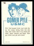 1965 Fleer Gomer Pyle #8   Ah Sure Love It Here in the Marines Back Thumbnail