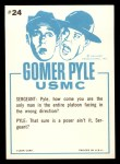 1965 Fleer Gomer Pyle #24   That Simple Grin Back Thumbnail
