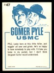 1965 Fleer Gomer Pyle #47   Snakes are Just Like People Back Thumbnail