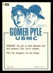 1965 Fleer Gomer Pyle #55   Pyle I Might Make Marine Back Thumbnail