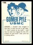 1965 Fleer Gomer Pyle #56   I Said I'd Find Us Water Back Thumbnail
