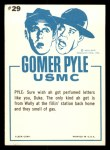 1965 Fleer Gomer Pyle #29   Here Just Take Whiff Back Thumbnail