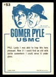 1965 Fleer Gomer Pyle #53   Hope Sergeant Carter Found Some Back Thumbnail