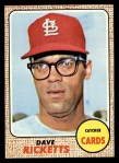 1968 Topps #46  Dave Ricketts  Front Thumbnail
