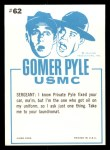 1965 Fleer Gomer Pyle #62   Miss this Little Two-Seater Back Thumbnail