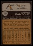 1973 Topps #139  Carmen Fanzone  Back Thumbnail