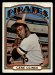 1972 Topps #152  Gene Clines  Front Thumbnail