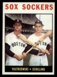 1964 Topps #182   -  Carl Yastrzemski / Chuck Schilling Sox Sockers Front Thumbnail