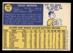 1970 Topps #152  Ike Brown  Back Thumbnail