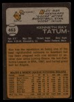 1973 Topps #463  Ken Tatum  Back Thumbnail