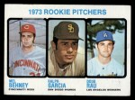 1973 Topps #602   -  Mel Behney / Ralph Garcia / Doug Rau Rookie Pitchers Front Thumbnail