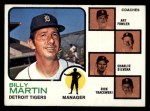 1973 Topps #323   -  Billy Martin / Art Fowler / Joe Schultz / Charlie Silvera / Dick Tracewski Tigers Leaders Front Thumbnail