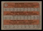 1972 Topps #14   -  Mike Anderson / Pete Koegel / Wayne Twitchell Phillies Rookies   Back Thumbnail