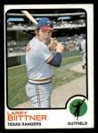 1973 Topps #249  Larry Biittner  Front Thumbnail