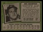 1971 Topps #149  Mike Hershberger  Back Thumbnail