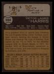 1973 Topps #594  Vic Harris  Back Thumbnail