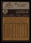 1973 Topps #86  Tom McCraw  Back Thumbnail