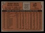 1972 Topps #266  Bobby Bolin  Back Thumbnail
